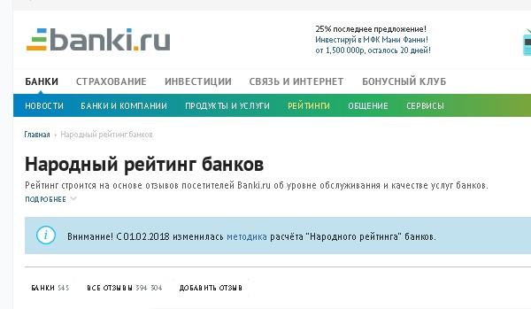 Насайте Банки.ру